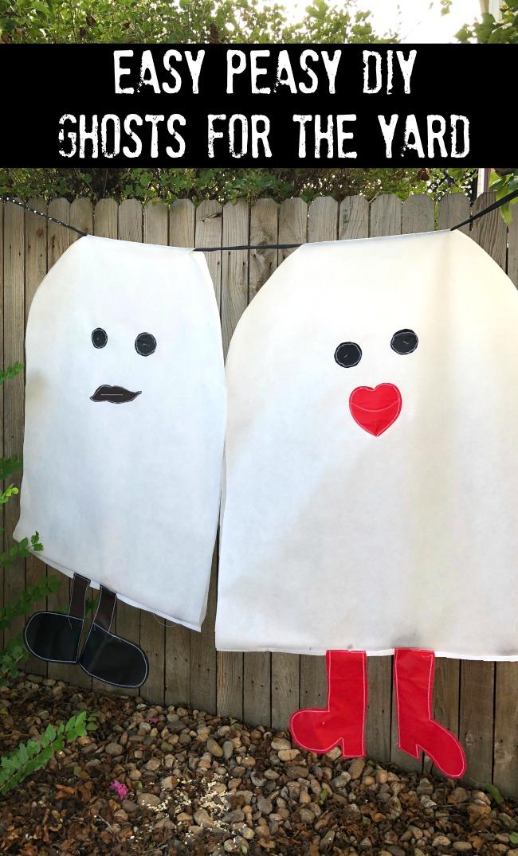 Giant DIY Yard Ghosts