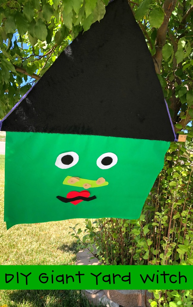 Giant Yard Witch Halloween DIY