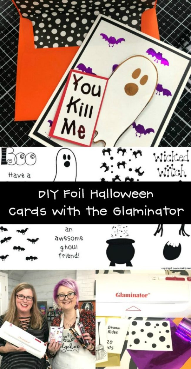How to Use the Glaminator to Make Foil Halloween Cards