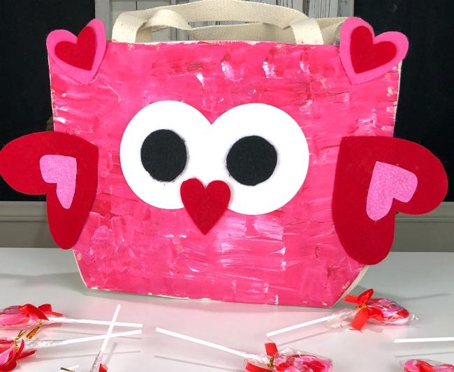 DIY Valentine Owl Bag