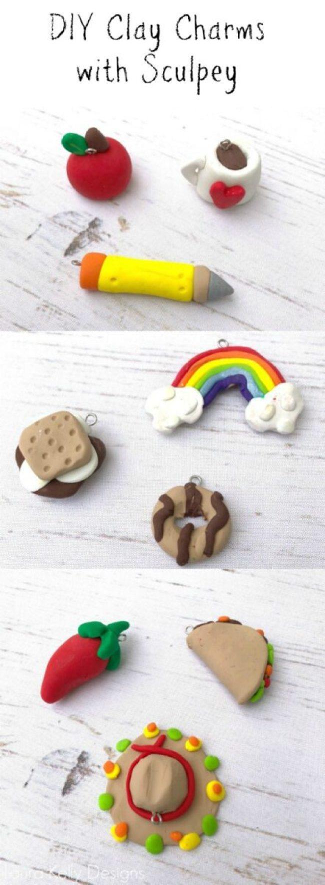Clay Charms with Bake Shop Clay DIY #kidcraft #claycraft #claybugs