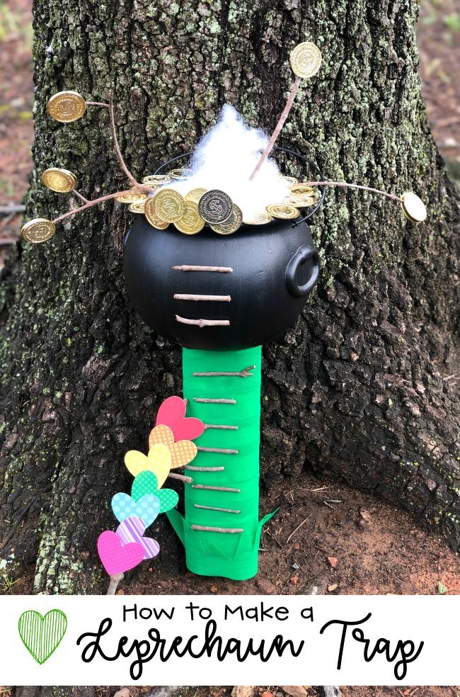 How to Make a Leprechaun Trap With Kids as an Easy and Fun Craft #leprechauntrap #catchaleprechaun
