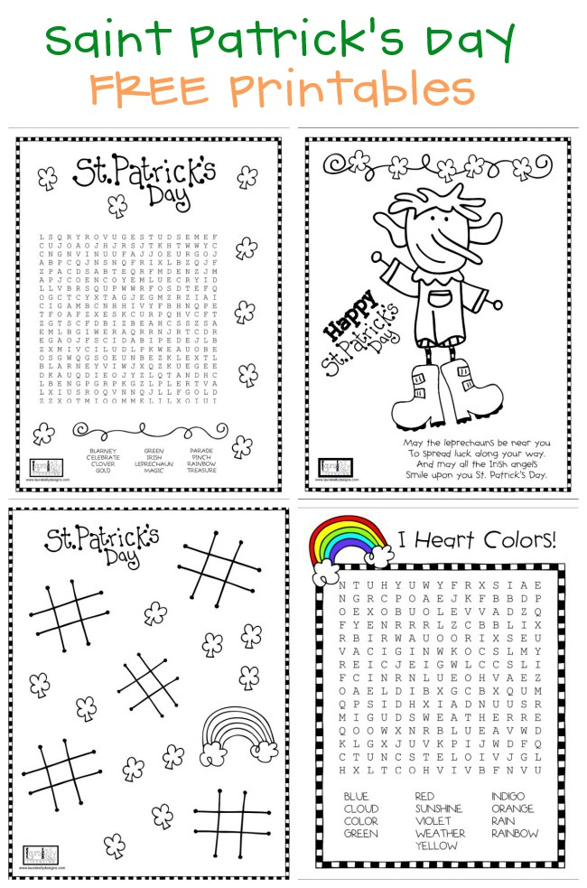 St, Patricks Day Printables FREE