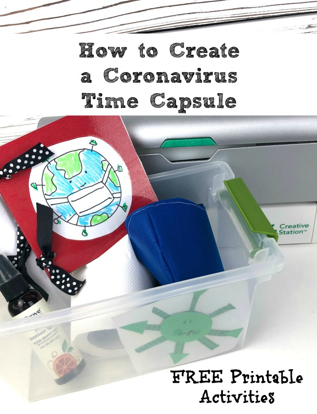 How to Create a Coronovirus Time Capsule with Free Printable Craft for Kids