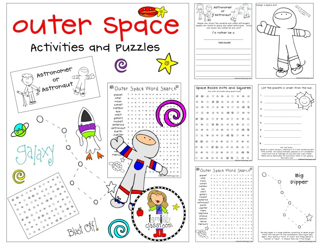 Outer Space Activities and Puzzles