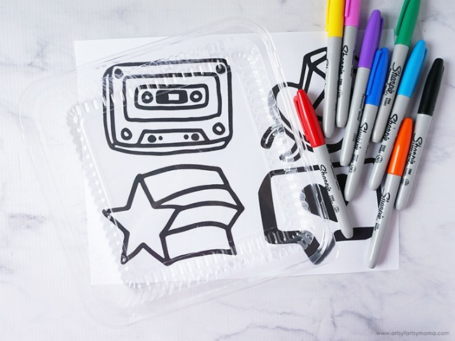 DIY Shrinky Dinks with Recycled Plastic