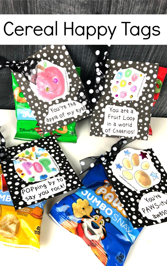 Cereal Gift Tags Happy
