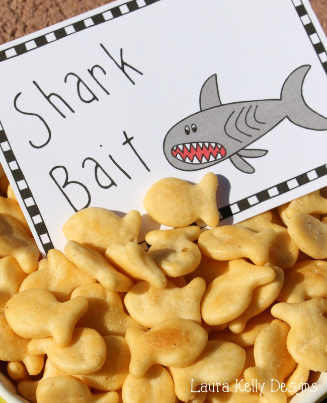 Shark Bait Goldfish Crackers Tag for Shark Week