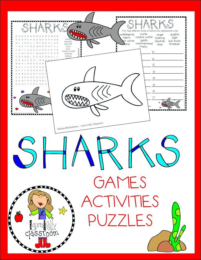 Shark Week Activity Pack Free Printable