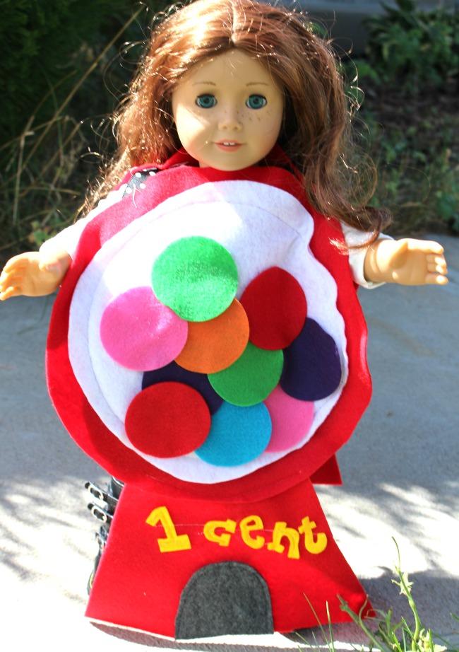 American Girl Doll Costume Gumball Machine
