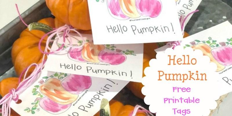 Hello Pumpkin Free Printable Gift Tags