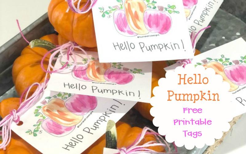 Hello Pumpkin Printable Tags