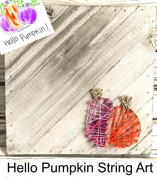 Hello Pumpkin String Art