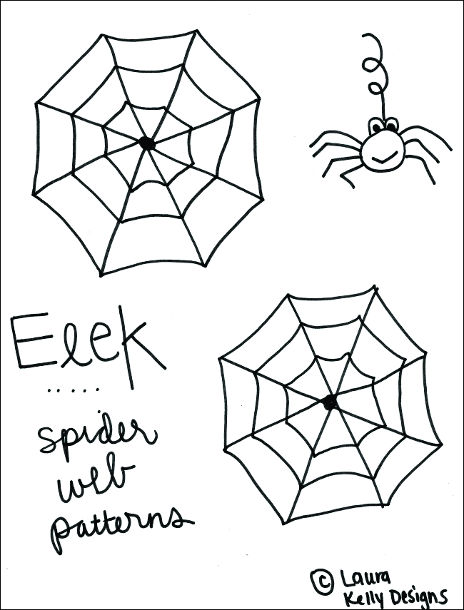 Spiderweb Candy Template Pattern