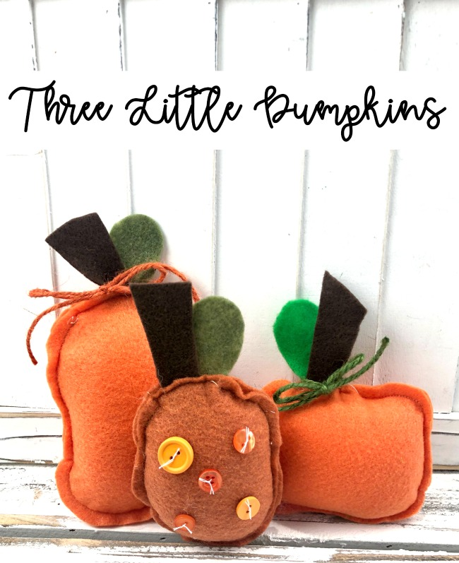 Three Little Pumpkins Felt Decorations