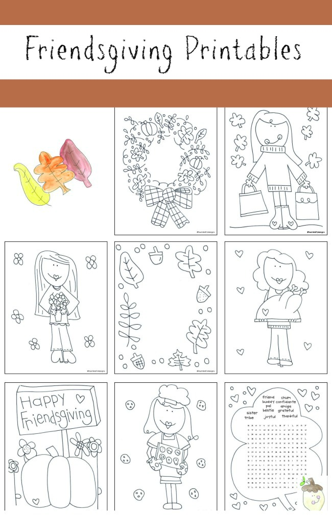 Friendsgiving Printables Laura Kelly Designs FREE