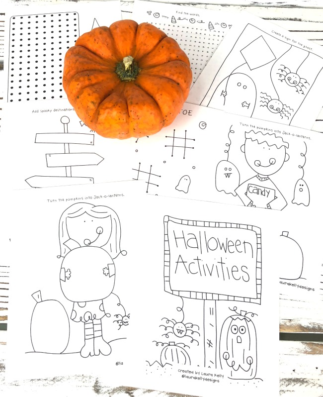 Halloween Printable Mini Activity Pages Book