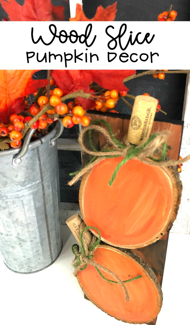 Wood Slice Pumpkin DIY Decor