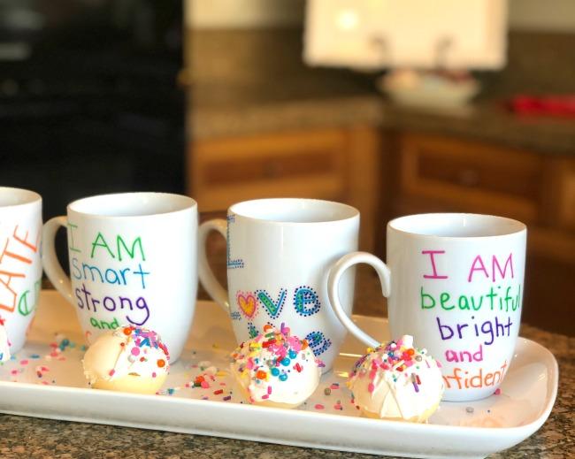 Handpainted Mugs and Sprinkle Bombs