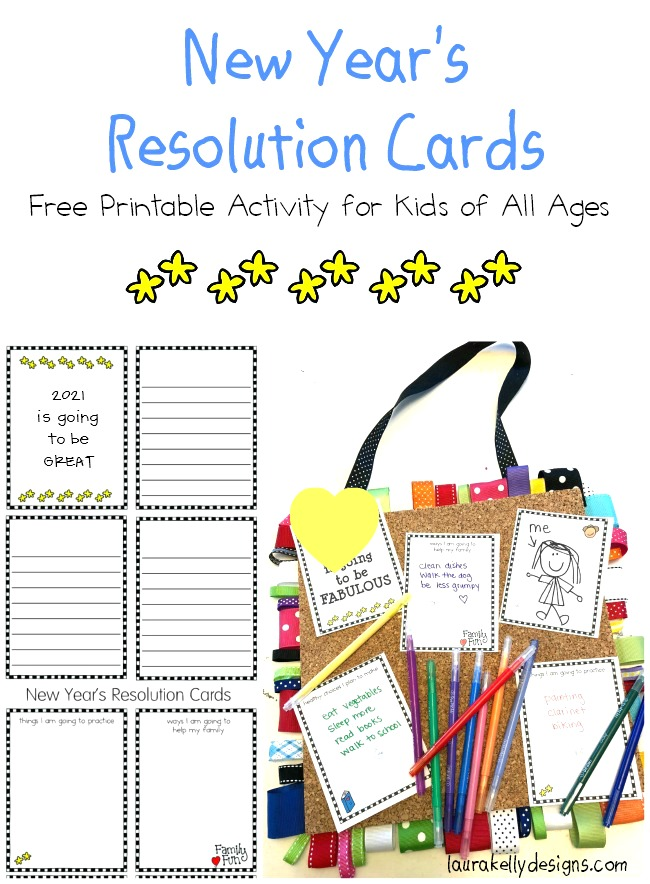 New Year Resolution Printable for Kids