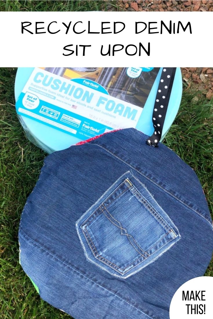 Girl Scout Recycled Denim Sit Upon