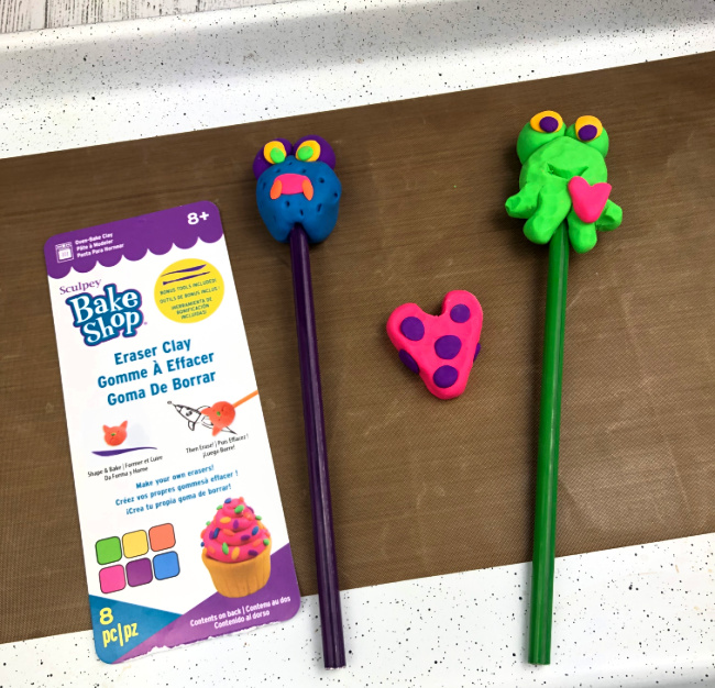 Baked Clay Erasers