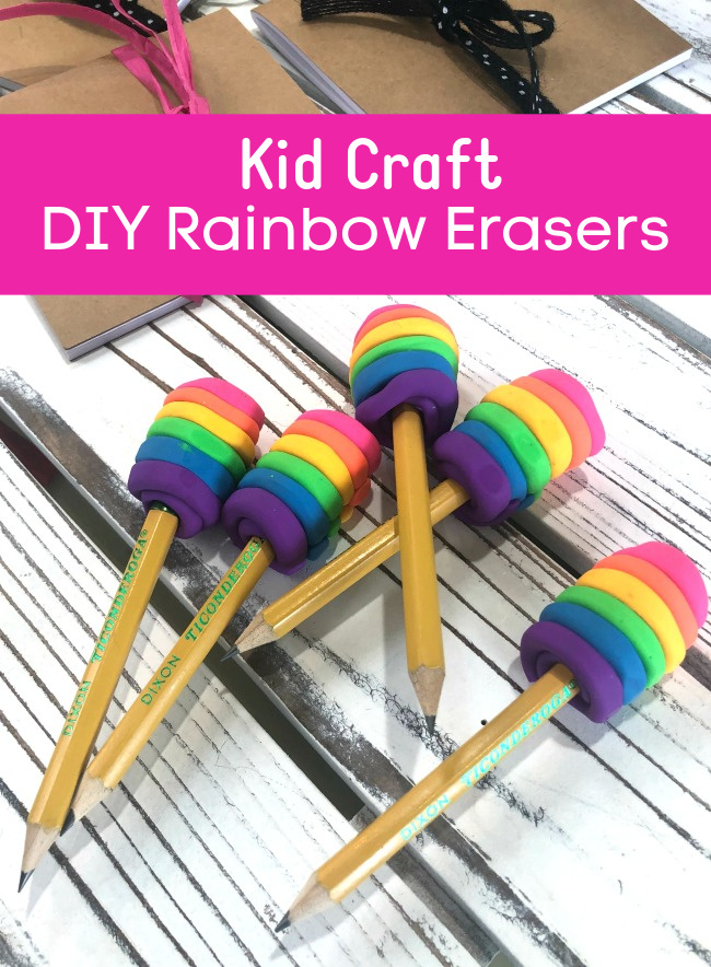Make Your Own Rainbow Erasers