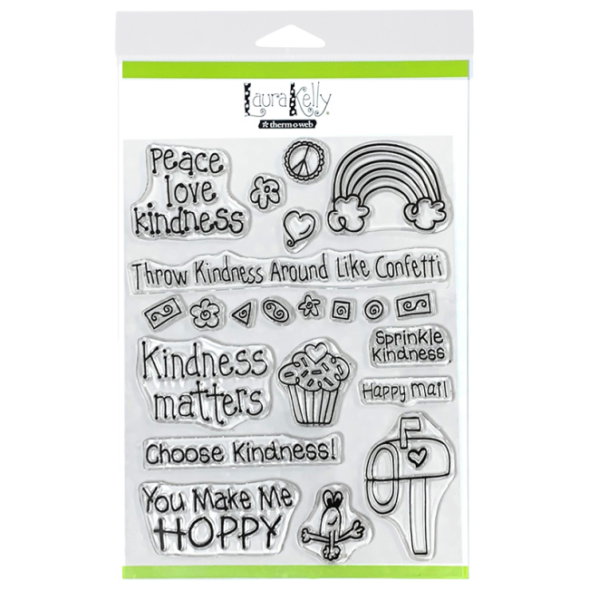 Laura Kelly Thermoweb Stamps Kindness on Purpose
