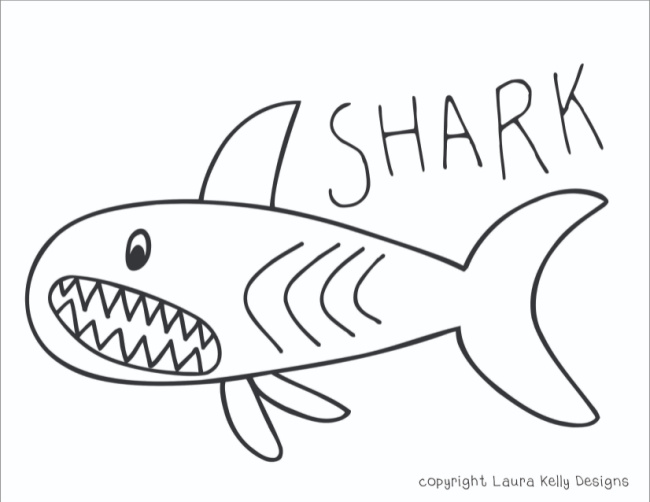 Free Shark Pattern Printable Coloring