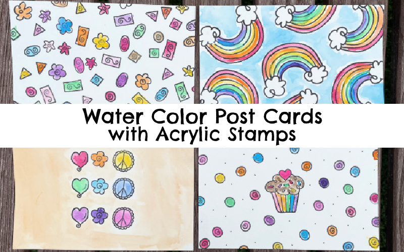 Water Color Painting With Clear Stamps