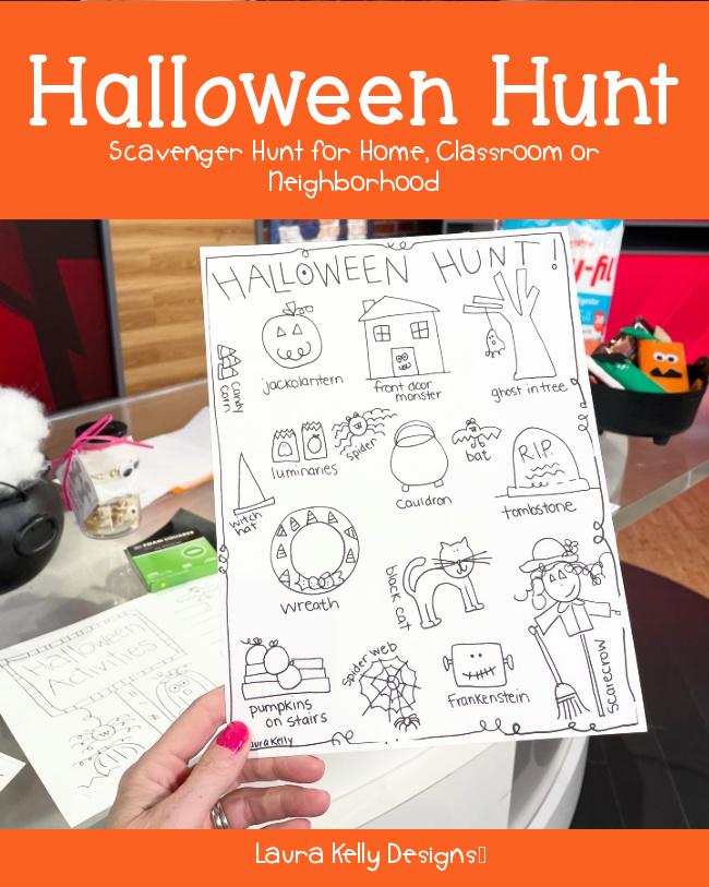 Halloween Scavenger Hunt Free Printable Download