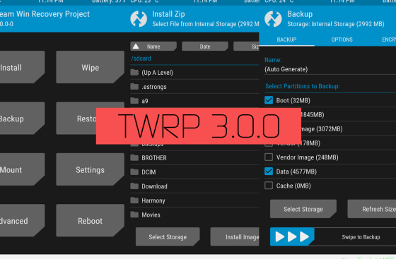 TWRP ريكفري لهاتف HTC One A9