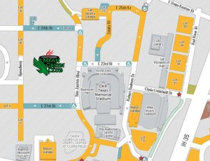 Map of the MGC tailgate