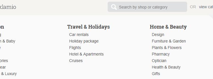 aklamio travel category