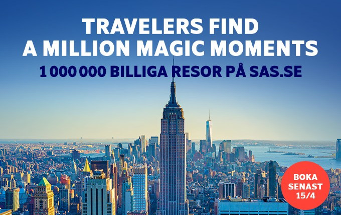 SAS 1 Million flights sale