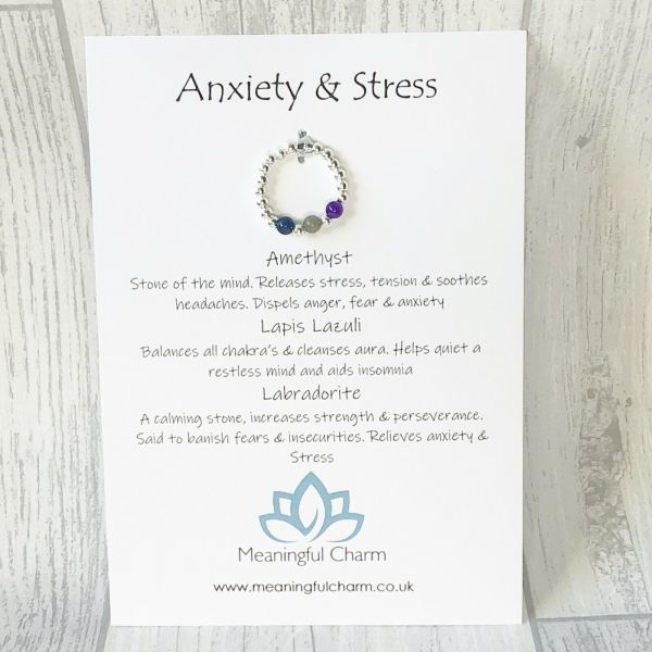 Anxiety Stretch Ring, Stress Jewellery, Anxiety Ring