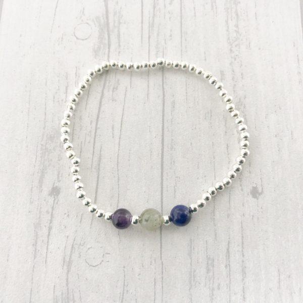 Anxiety & Stress Stretch Bracelet, Crystal Healing, Anxiety Jewellery