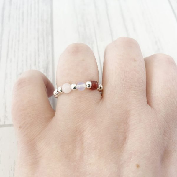 Fertility Stretch Ring, Stacking Rings, IVF, Pregnancy Aid, Crystal Healing