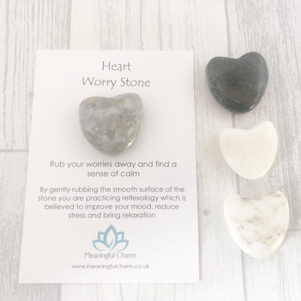 Heart Worry Stone, Worry Stones, Support Gift, Mental Health, Anxiety Stone
