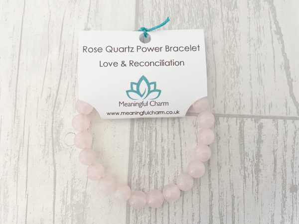 Rose Quartz Bracelet, Mala, Love & Healing, Rose Quartz Jewellery