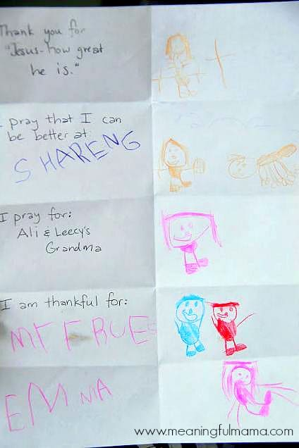 Teaching Kids to Pray with a Prayer Sheet - Christian Parenting