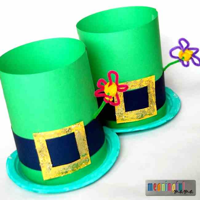 Lephrechaun Hat Craft for Kids