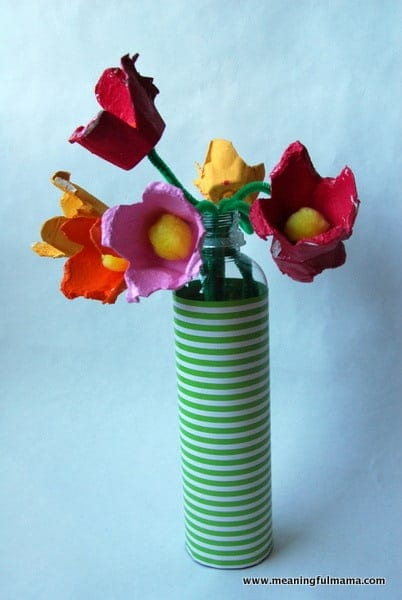 1-Egg Carton Flowers