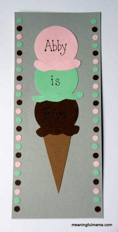 homemade ice cream birthday invitations