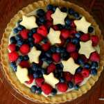 Red, White and Blue Fourth of July Sugar Cookie Tart