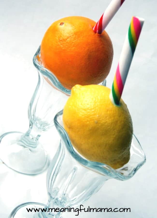 lemon orange candy stick straws carnival food