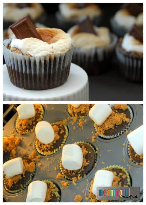 S'More Cupcakes - Melted Marshmallow on Top - Brilliant and so easy!