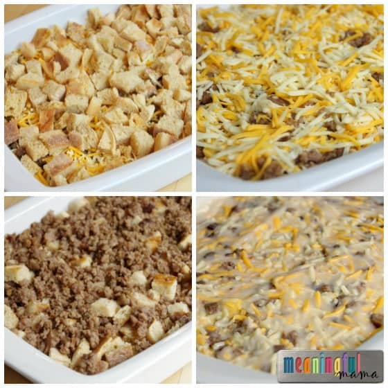 Make Ahead Christmas Sausage Breakfast Casserole