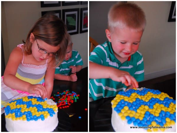 1-#chevron #M&M #cake #mosaic