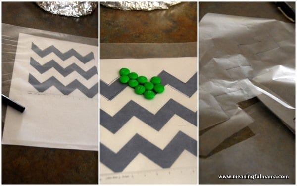1-#chevron #m&m #cake #tutorial
